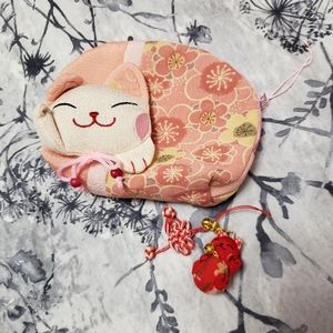 🆕️3/$30🎁NWOT Lucky Cat Bag and Charm